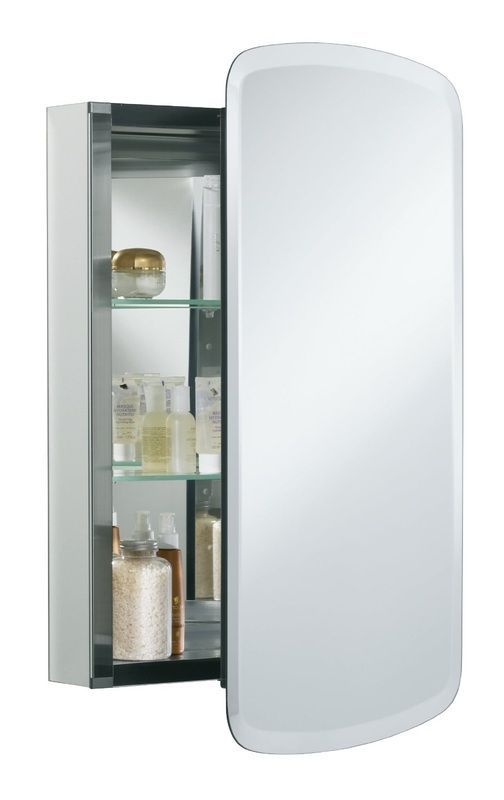 Mirrored Medicine Cabinet with Adjustable Glass Shelves,