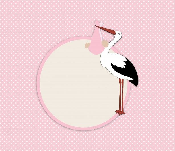 Stork Baby Shower Card baby girl Pinterest Stork baby - baby shower card template