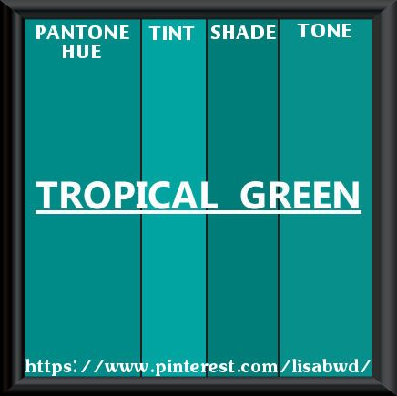 Pantone Seasonal Color Swatch Tropical Green Blue Paints Teal Paint Colors