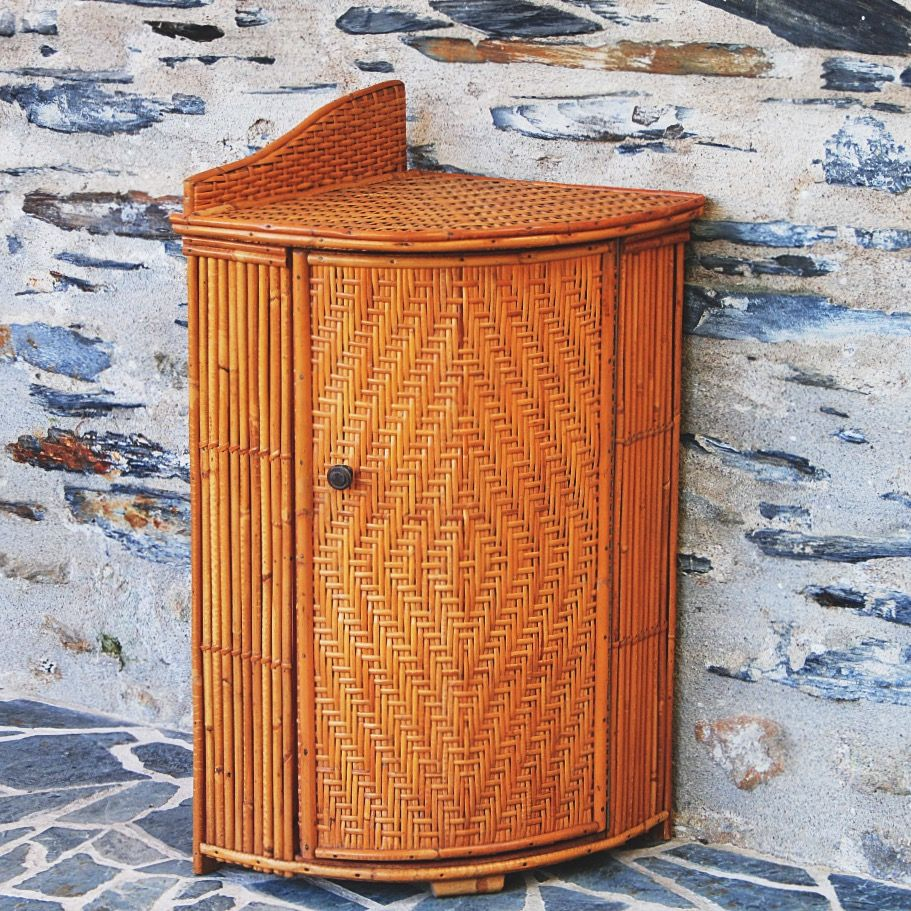 Meuble De Coin En Rotin Vintage Furniture Home Decor