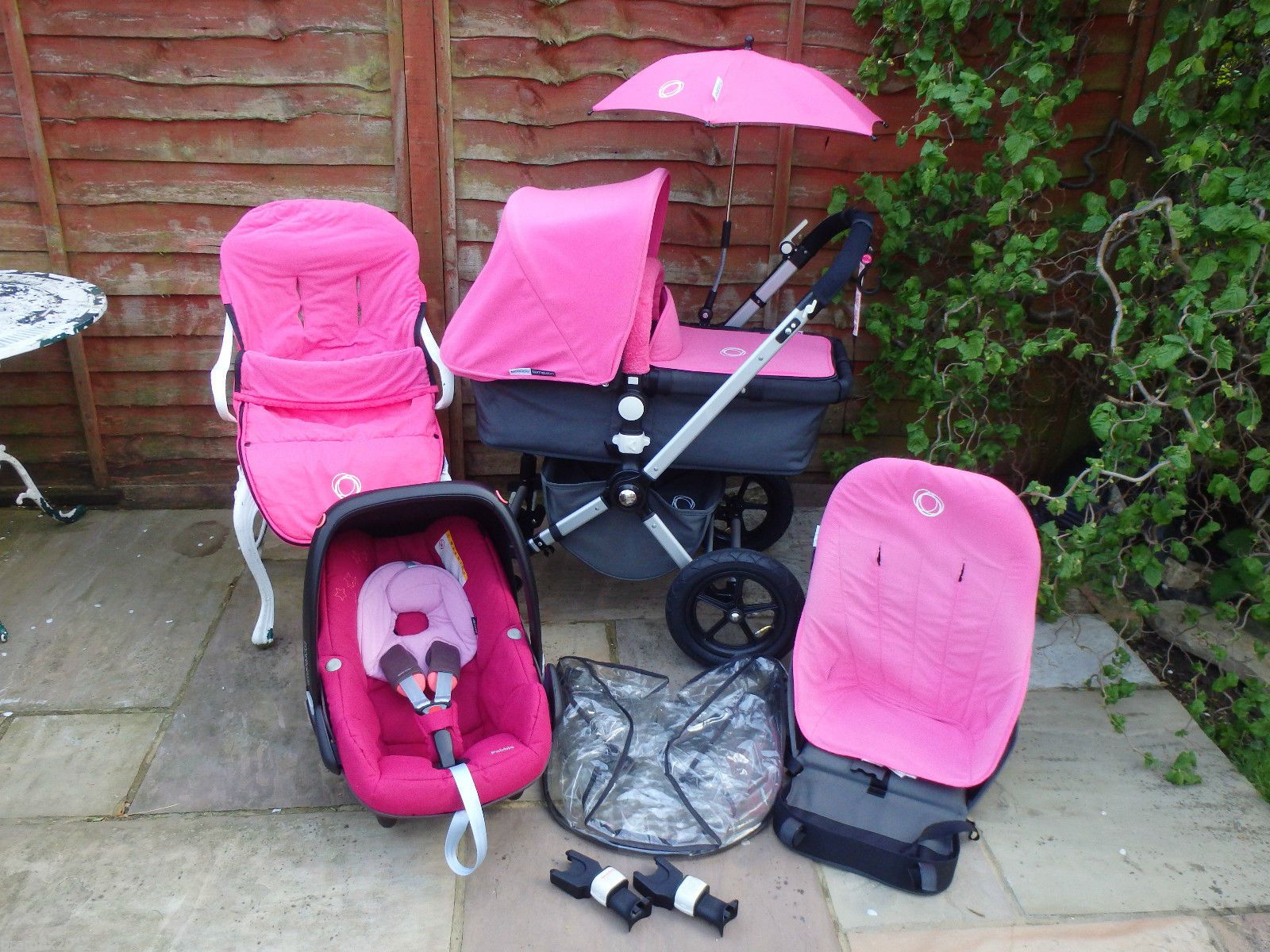 Bugaboo Cameleon 3 Maximum Weight Bugaboo Cameleon 1 Full Travel System In Hot Pink Ebay