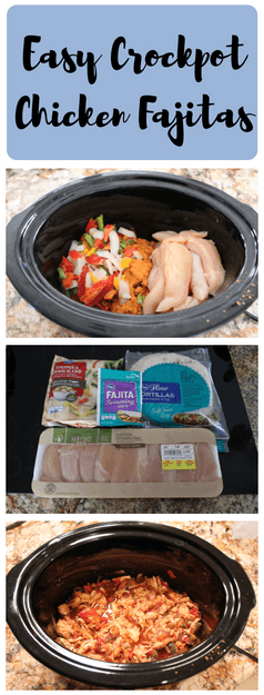 Easy Slow Cooker Chicken Fajitas - Great for Freezer Meal Prep #crockpotmealprep