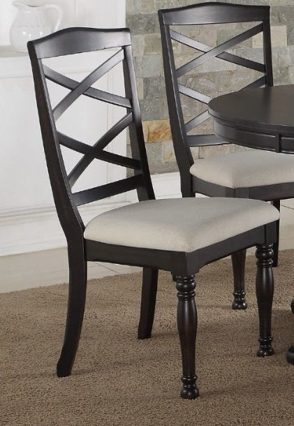 Poundex Espresso Dining Room Chair (set of 2) F1545