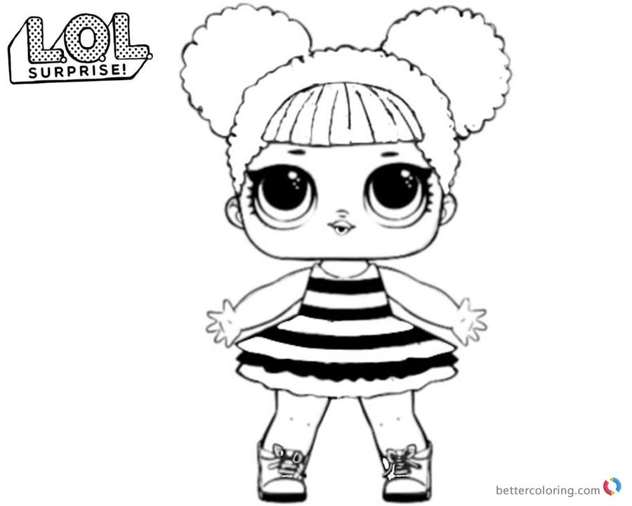 Lol Surprise Coloring Pages Queen Bee Printable Bee Coloring Pages Baby Coloring Pages Cool Coloring Pages