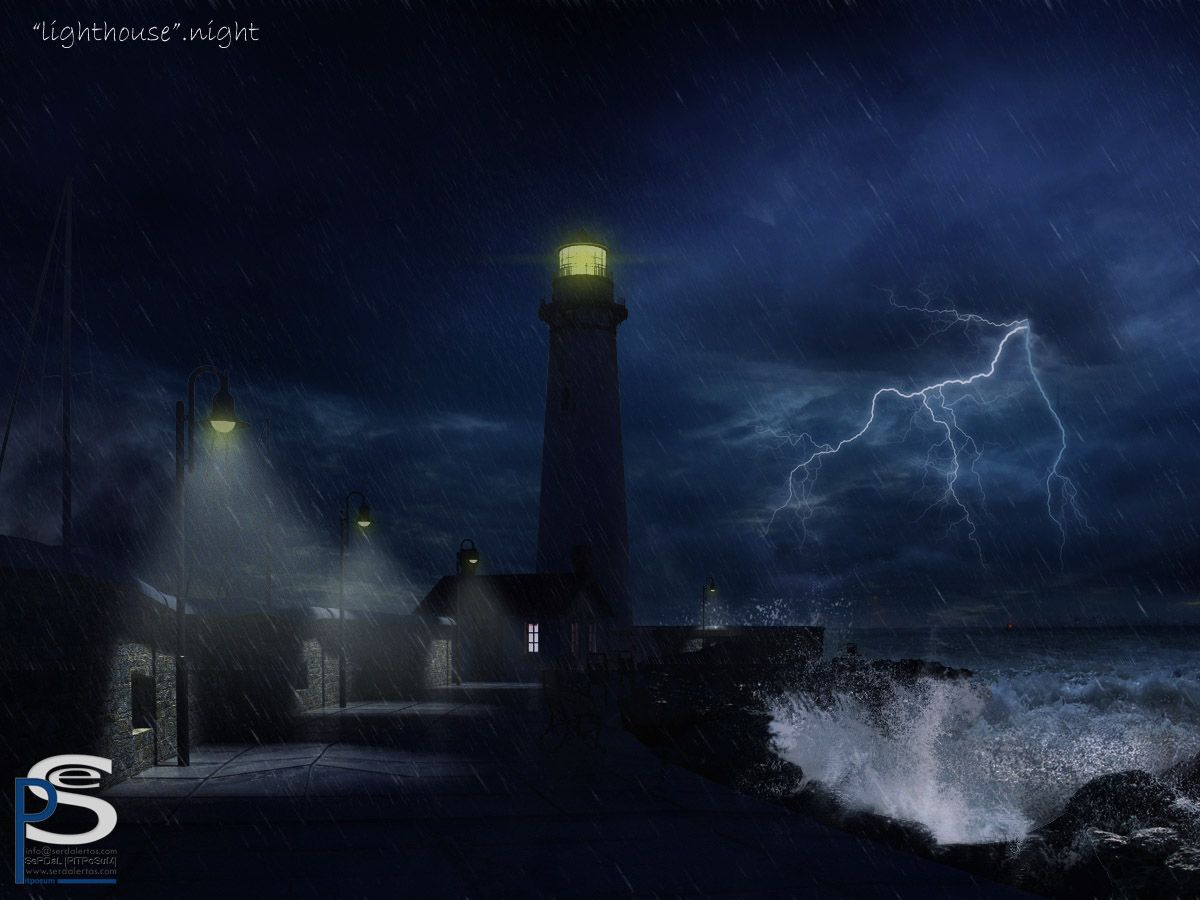 lighthouse at night | lighthouse-night by ~pitposum on ...