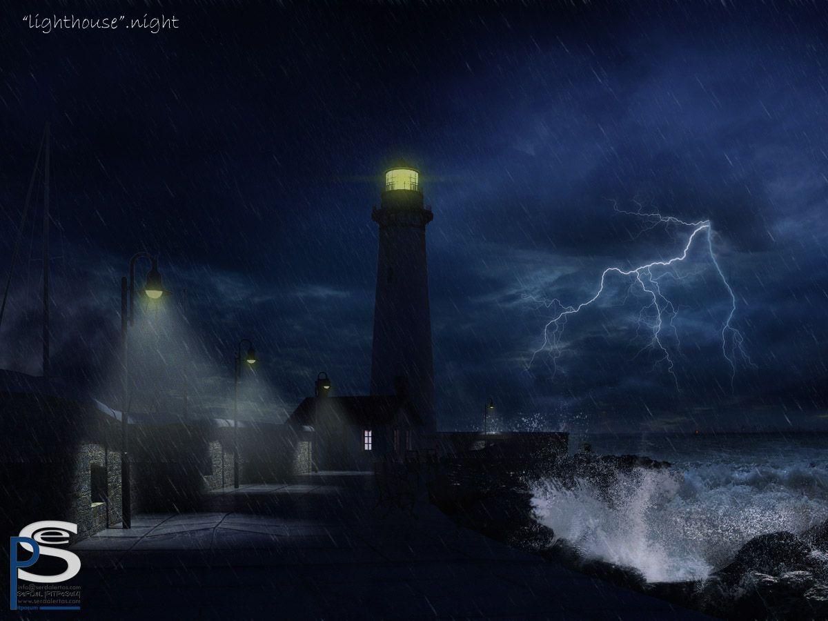 lighthouse at night | lighthouse-night by ~pitposum on ...