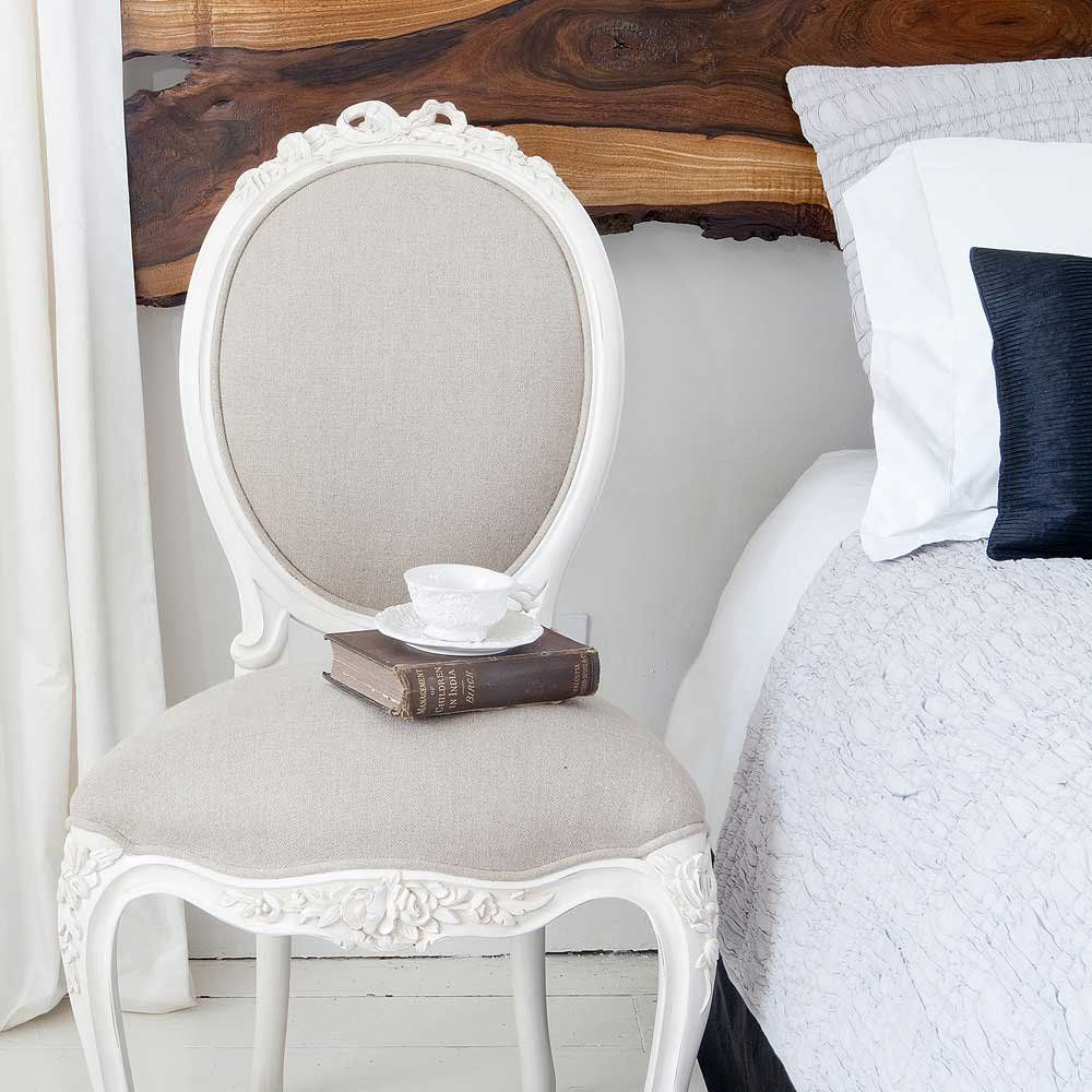 Provencal Taupe Linen Dressing Chair