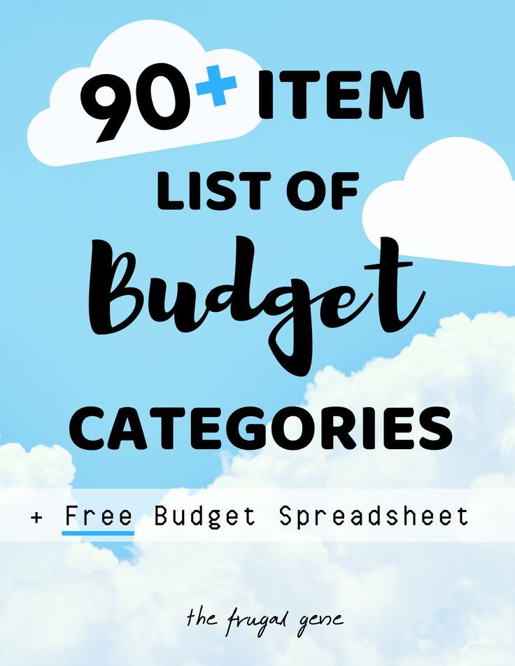 90+ Master List of Budget Categories + FREE Google Sheets Budget - Free Budgeting Spreadsheet