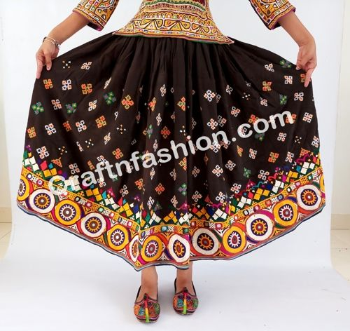 3a160c7260 Designer Boho Rabari Banjara Style Skirt- Gypsy Hand Embroidered Antique  Skirt- Vintage Kutchi Mirror work Long Skirt-