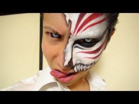 黒崎一護虚化メイク方法 化粧 Ichigo Hollow Makeup Tutorial I Want To Do This For Halloween Makeup Makeup Tutorials Youtube Halloween Face Makeup