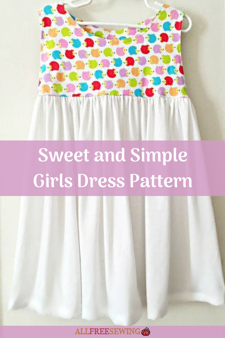 Sweet and Simple Girls Dress Pattern -   15 DIY Clothes Dress beginners sewing ideas