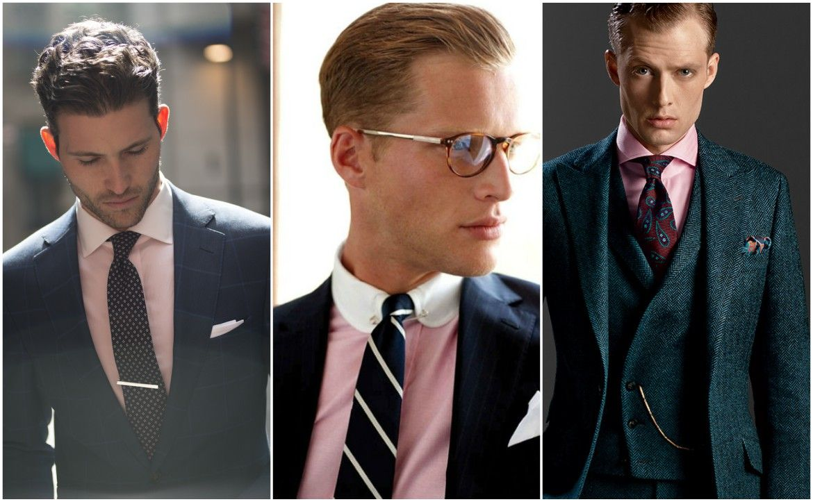 Suit and Tie Combinations with a Pink Shirt | Wedding