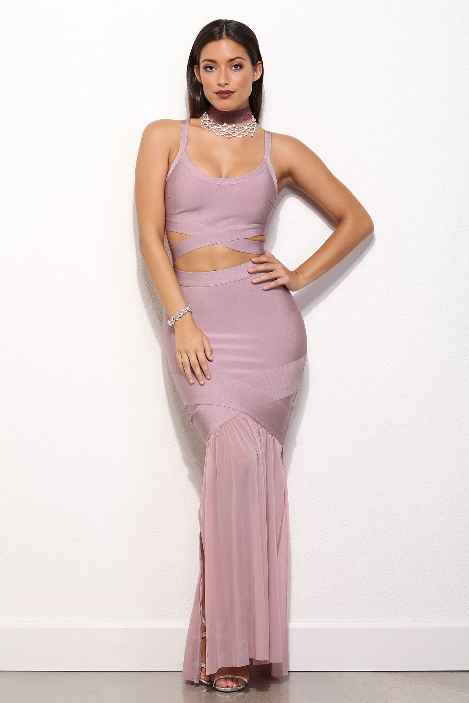 Alessia Mauve Bandage Prom Dress | windsor | p r o m | Pinterest