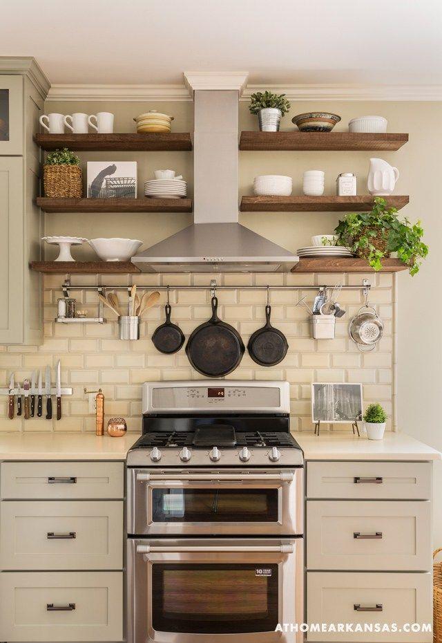 Gorgeous Farmhouse Kitchen Inspiration Wood Shelves In