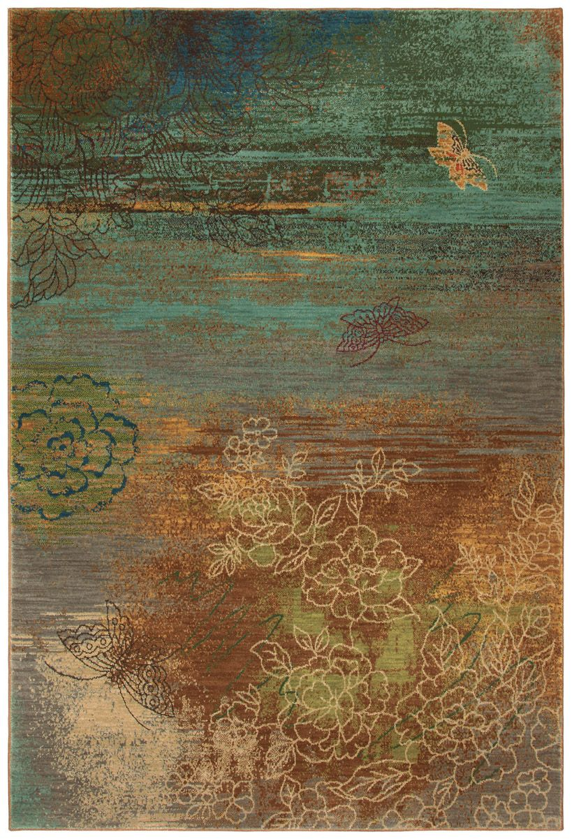This Nature Inspired Area Rug Brings A Unique Look To Any Room The Contrasting Colors