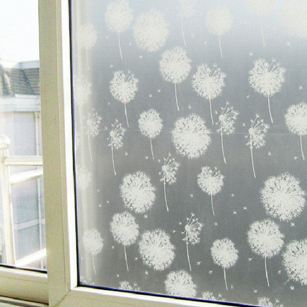 Amazon.com: Generic Premium Decorative Self Adhesive Window Film For  Bathroom Bedroom Office