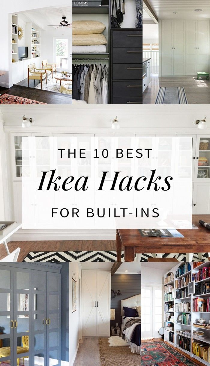 builtin ikea hacks to make your jaw drop things pinterest