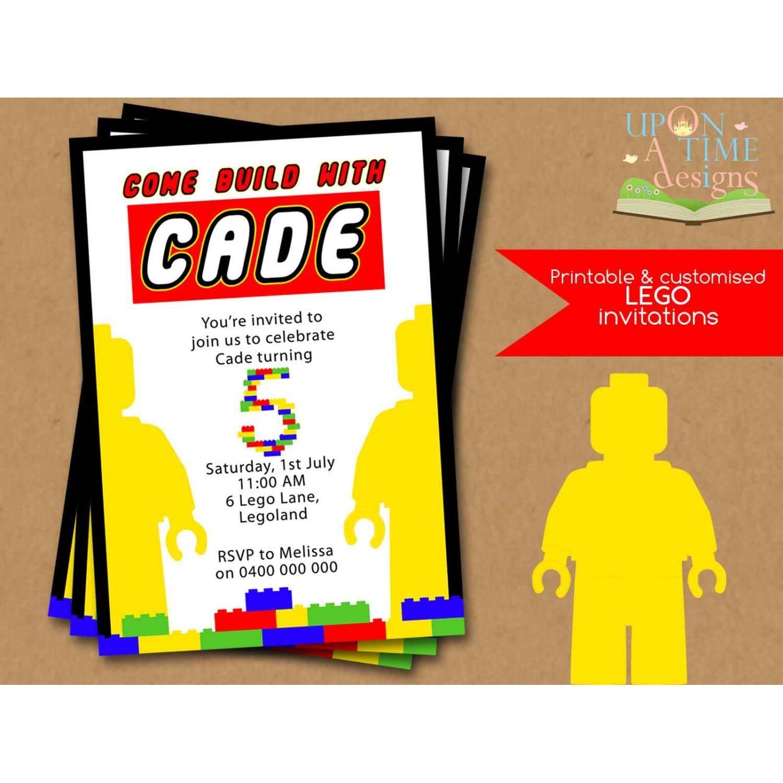 lego custom invitations | Printable Lego Birthday Invitations Free ...