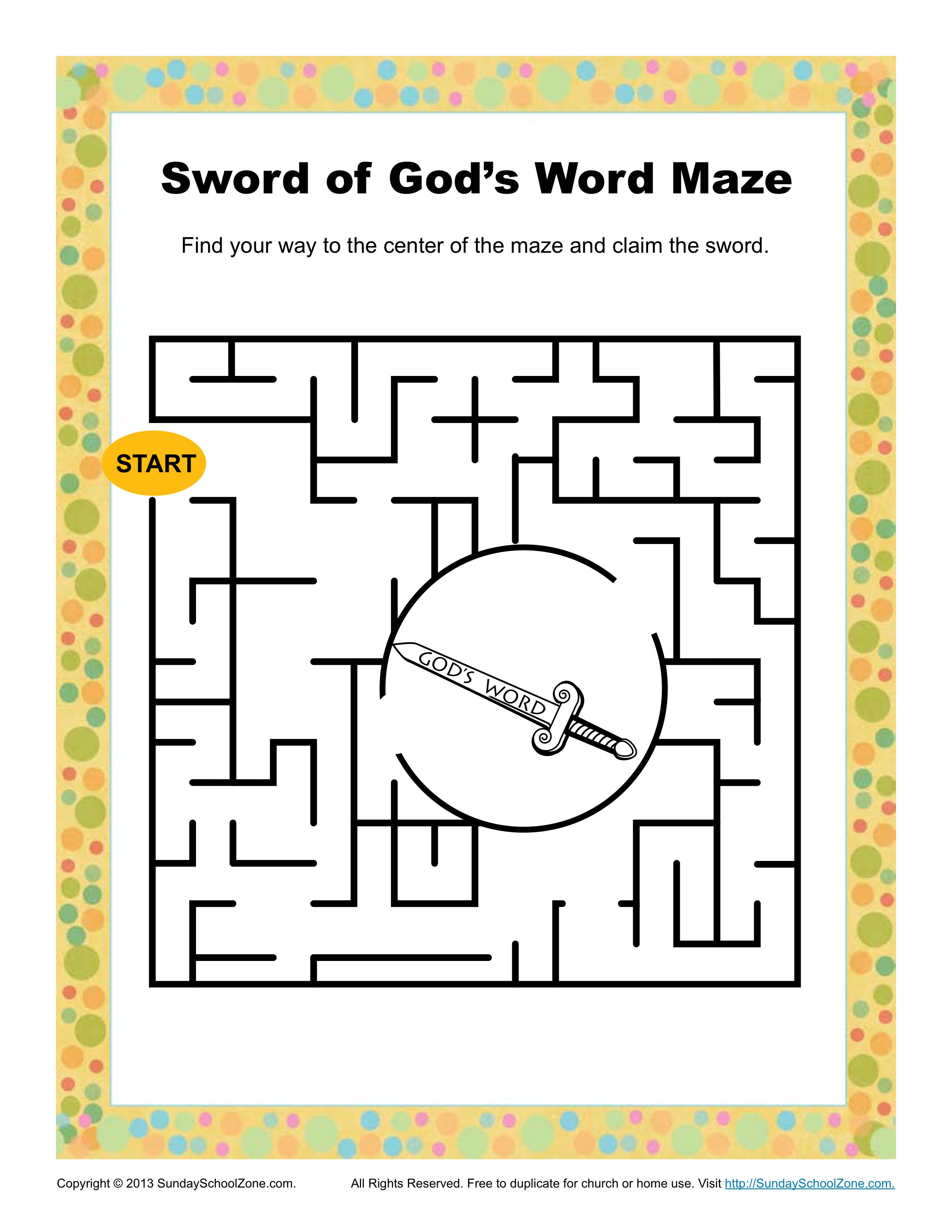 Sword Of God S Word Maze