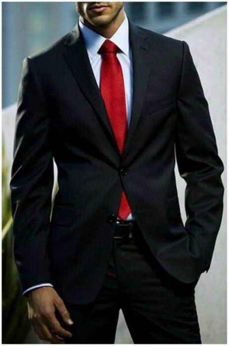 Shirt and tie combinations with a black suit black suits for Black shirt and tie combinations