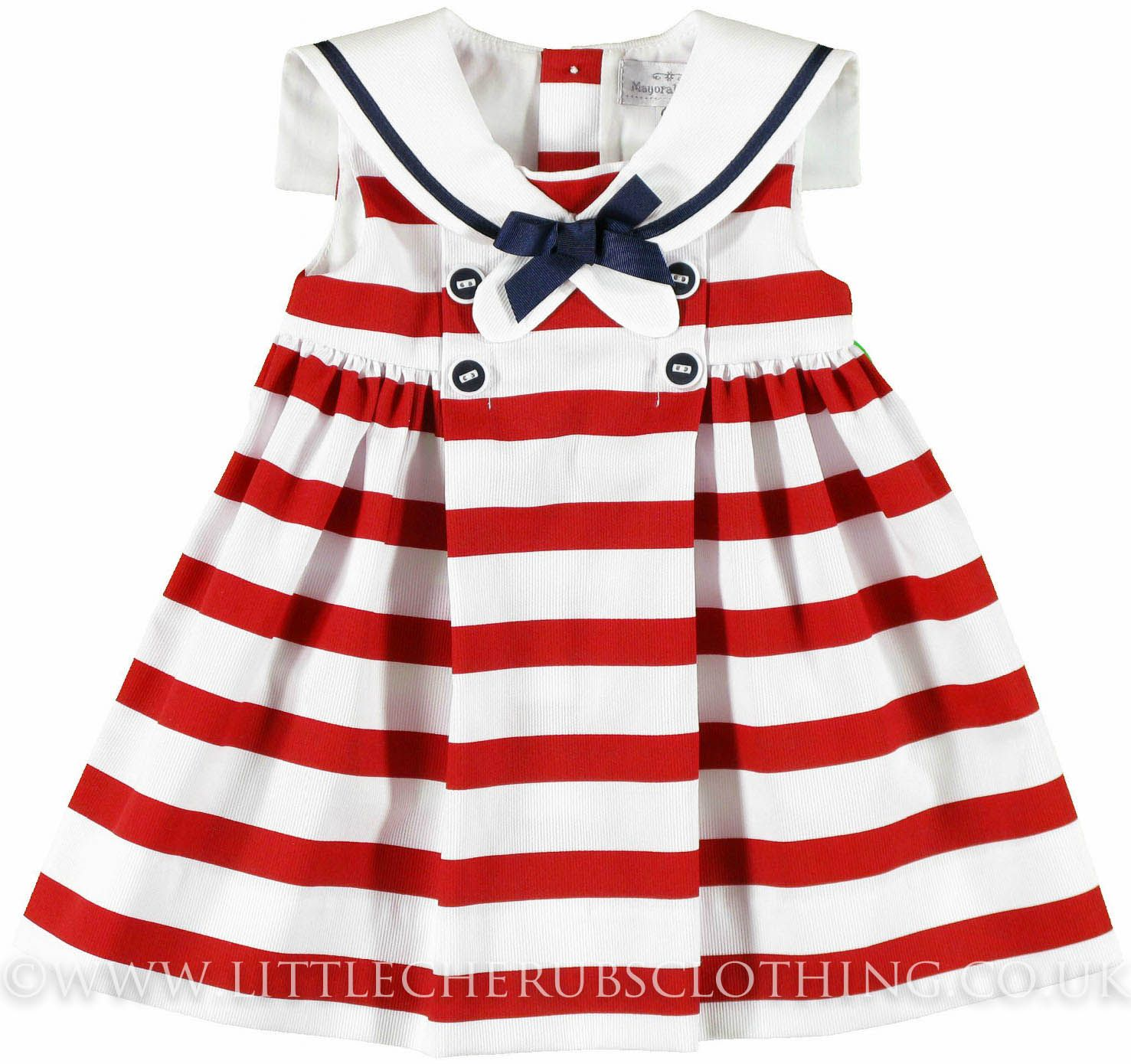 Bonnie Jean Red w//White Polka Dot Nautical Summer 4th of July Dress 7-16 New