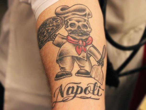 Chef Jarett Appell's badass pizza tattoo.