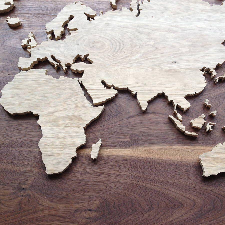 Bespoke wooden map bespoke map globe and woods bespoke wooden map gumiabroncs Gallery