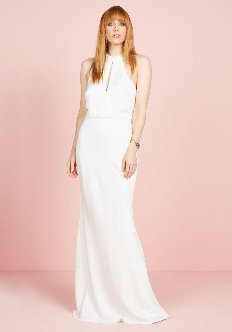 Magnificent Mrs. Maxi Dress in White | Vestidos de novia, De novia y ...