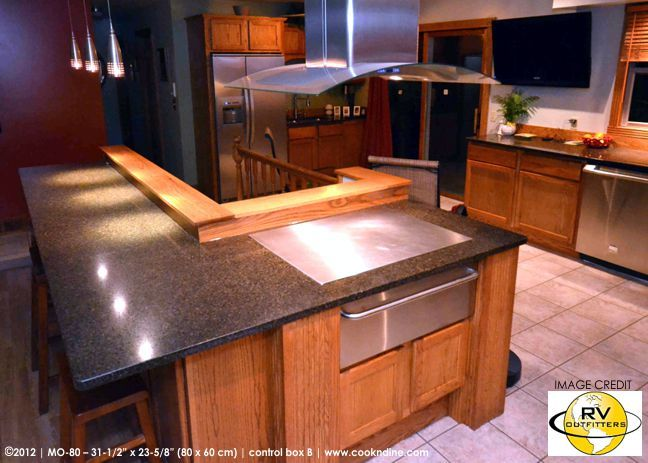 Teppanyaki Grill Photo Gallery: Teppan Cook Top Built In, Tepan Yaki Hibachi  For Indoor + Outdoor Kitchen. Benihana Style Social Cooking Griddle, ...