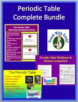 Periodic table complete bundle lesson webquest task card and periodic table complete bundle this activity bundle contains a powerpoint lesson webquest task card activity and inquiry project and it will save you urtaz