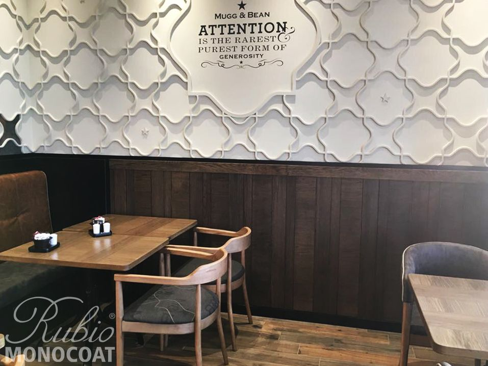 Famous Brands Used Rubio Monocoat In Their Coffee Shop Franchise
