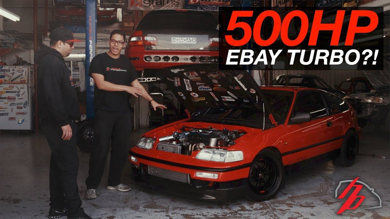 CLEAN eBay Turbo CRX Makes 500HP On A Single Cam! - YouTube | Broom