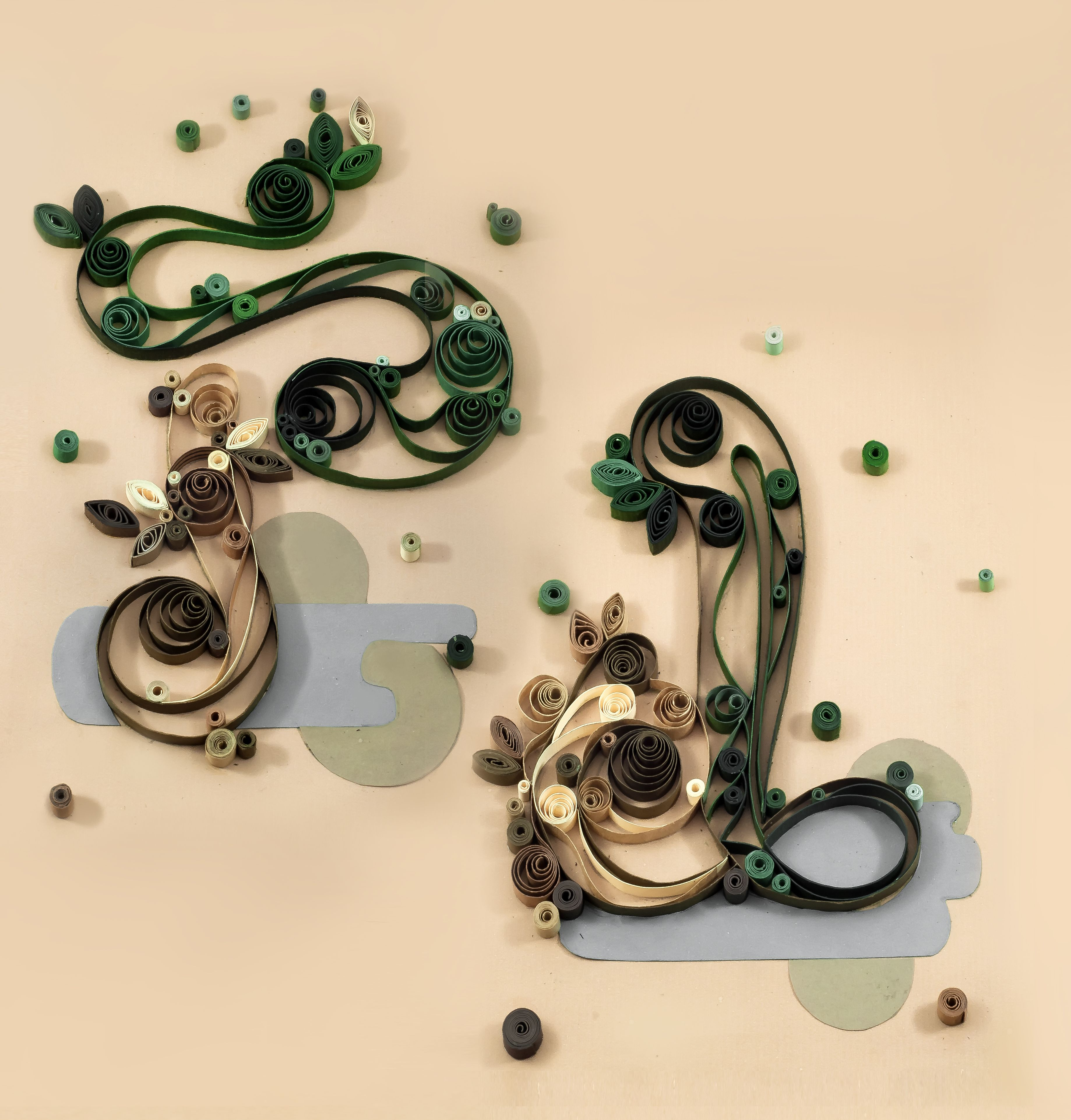 Quilling typo typographic typography pul quilling pinterest