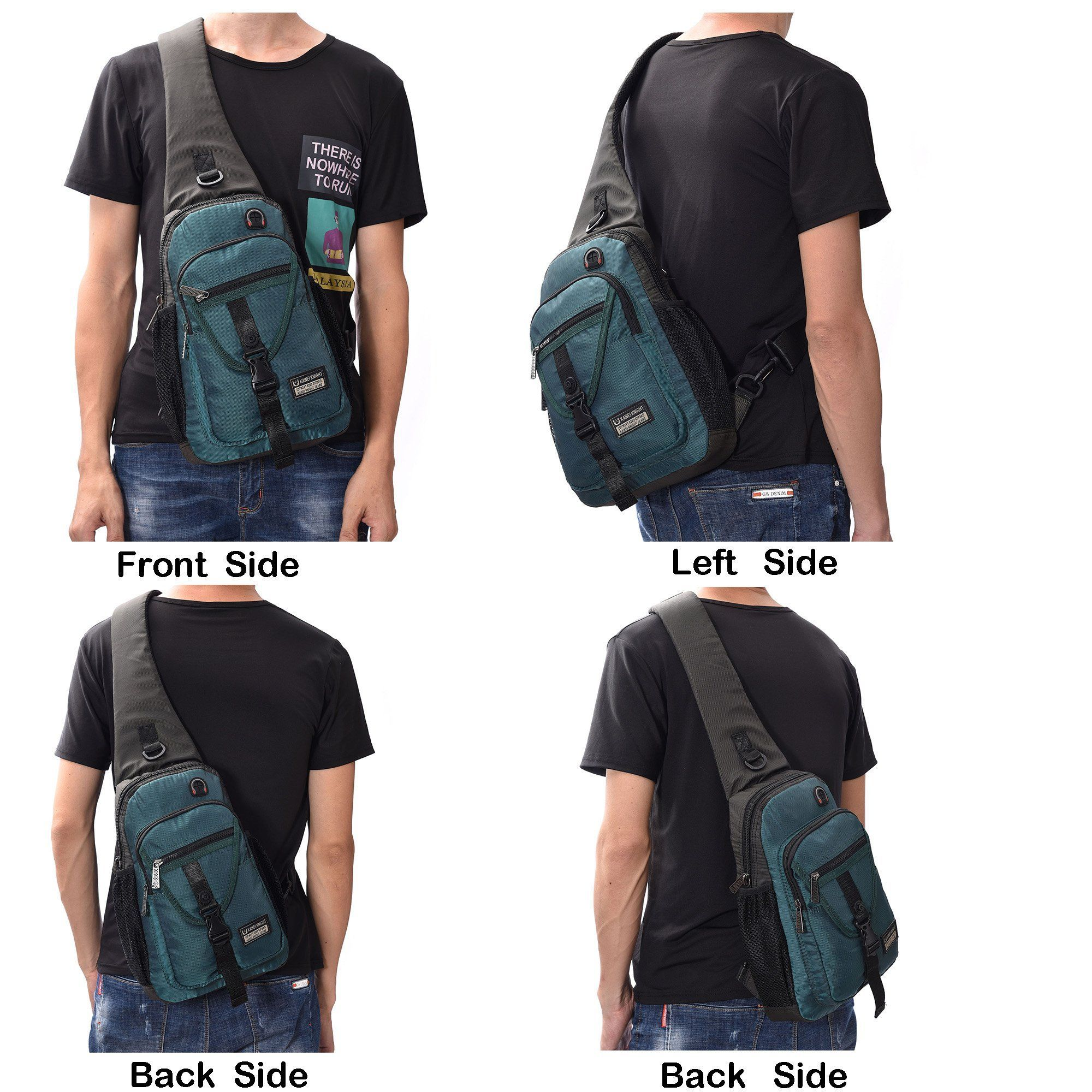 DDDH Sling Bags Chest Pack Triangle One Shoulder Crossbody Backpack for  Outdoor Camping Hiking Man Women 283d63c86b