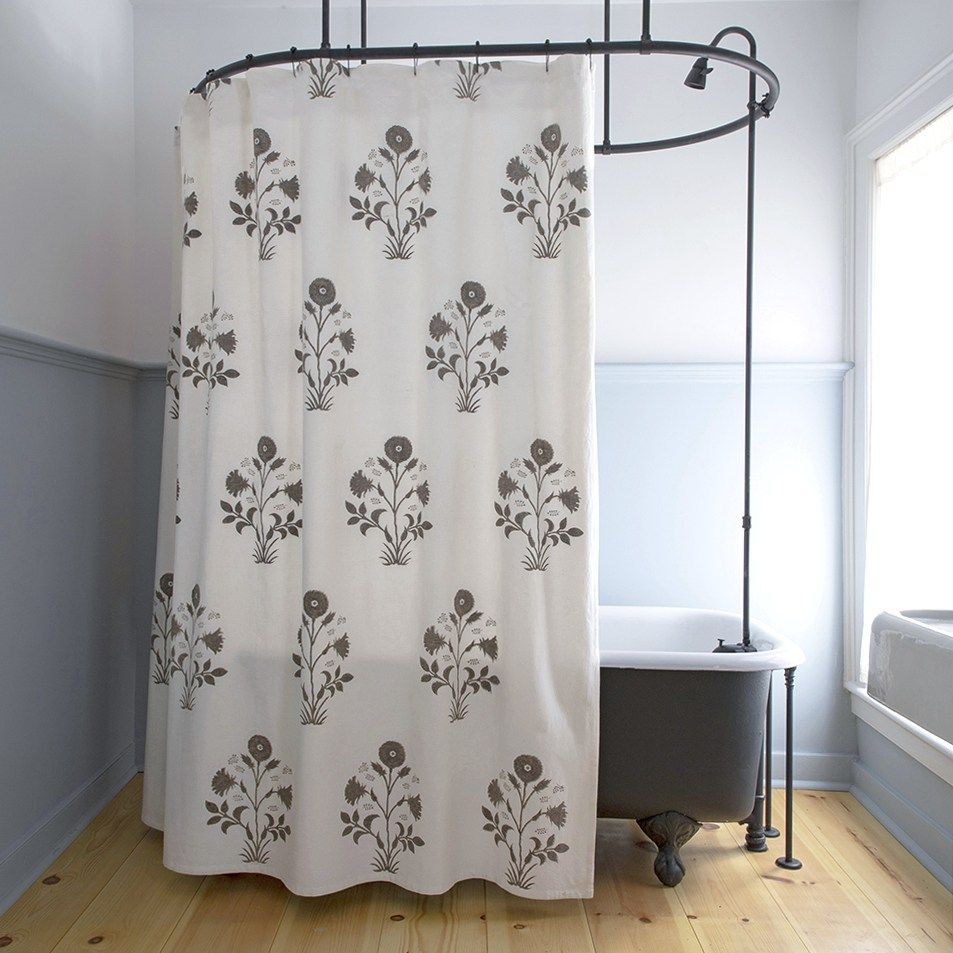 Veronique Shower Curtain In French Grey Curtains Shower Window In Shower