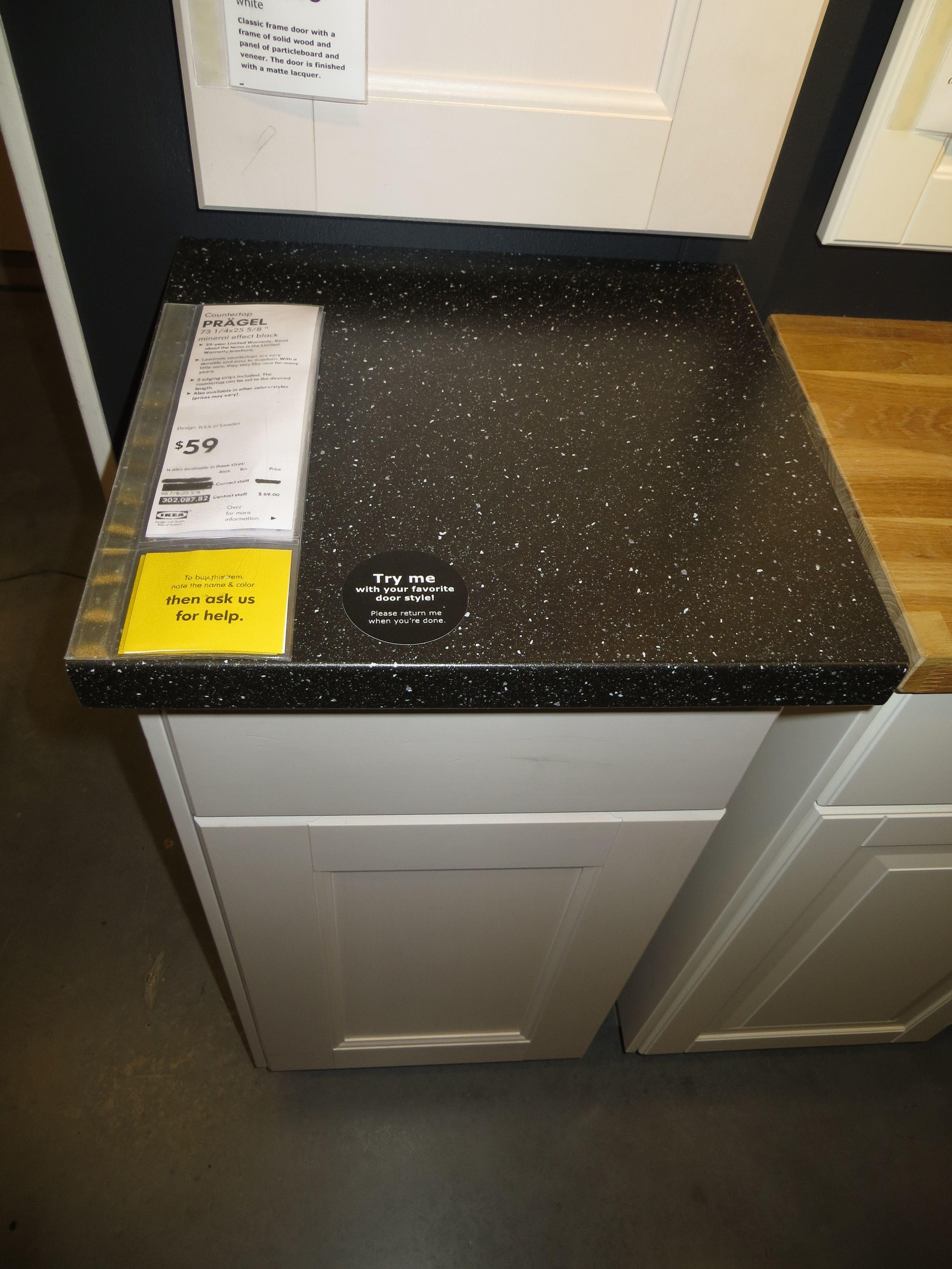 Ikea Pragel Black Stone Countertop Diy Countertops Kitchen