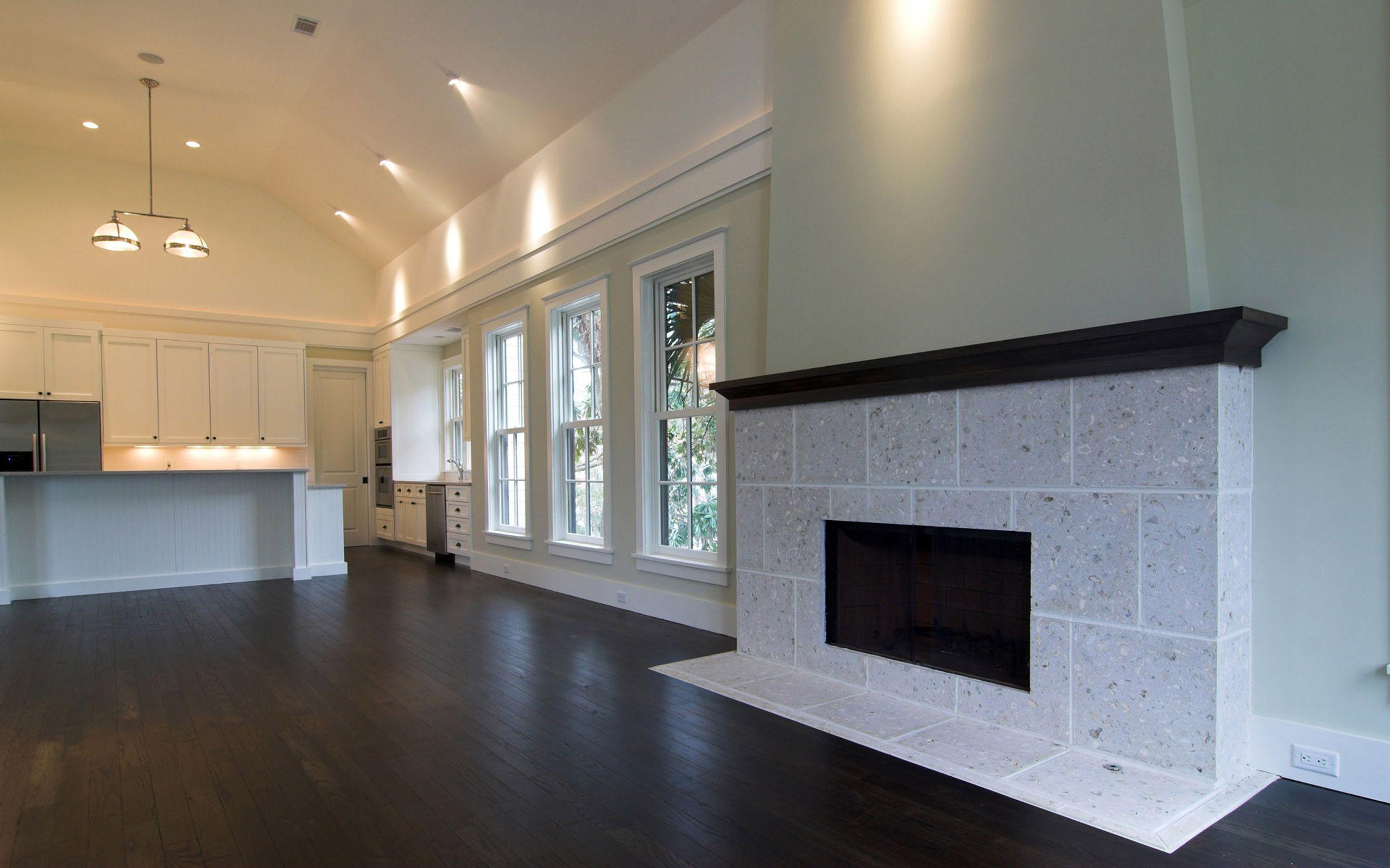 Empty Living Room Space Floor design, Fireplace design