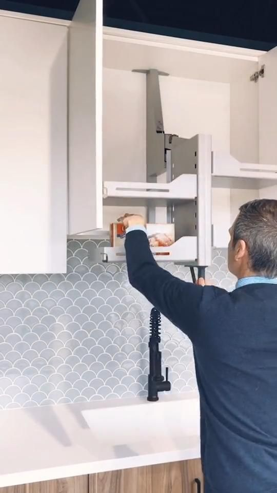kitchen Upper Cabinets Lift-Up and Down Mechanism