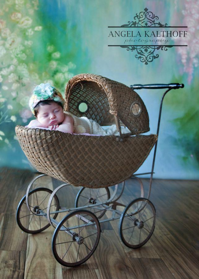 newborn in vintage stroller - Google Search