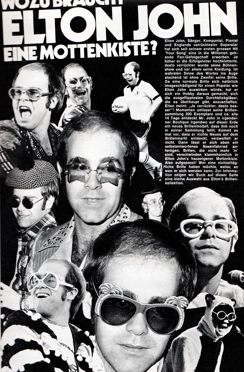 Glam Idols Search Results For Elton John Elton John The Muppet Show Singer
