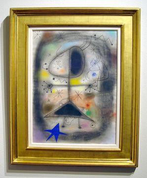 """""""Personnage, oiseau, étoiles"""" by Miró"""