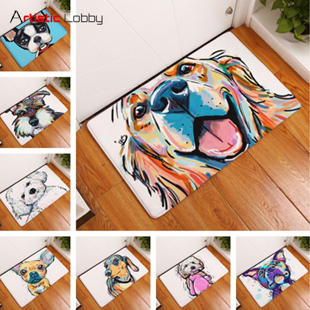 Lovely Painting Dog Antislip Floor Mat. Yes, you need