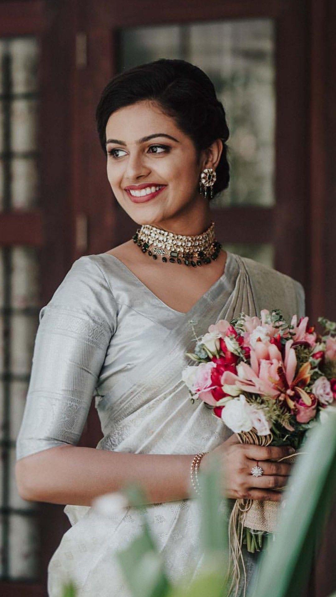 Laughingville Christian Bridal Saree Bridal Saree Kerala Wedding Saree