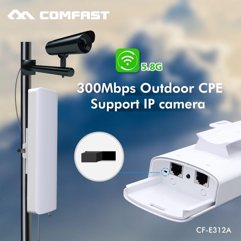 5.8G 300M Comfast CF-E312A Long distance Outdoor CPE WiFi Bridge ...
