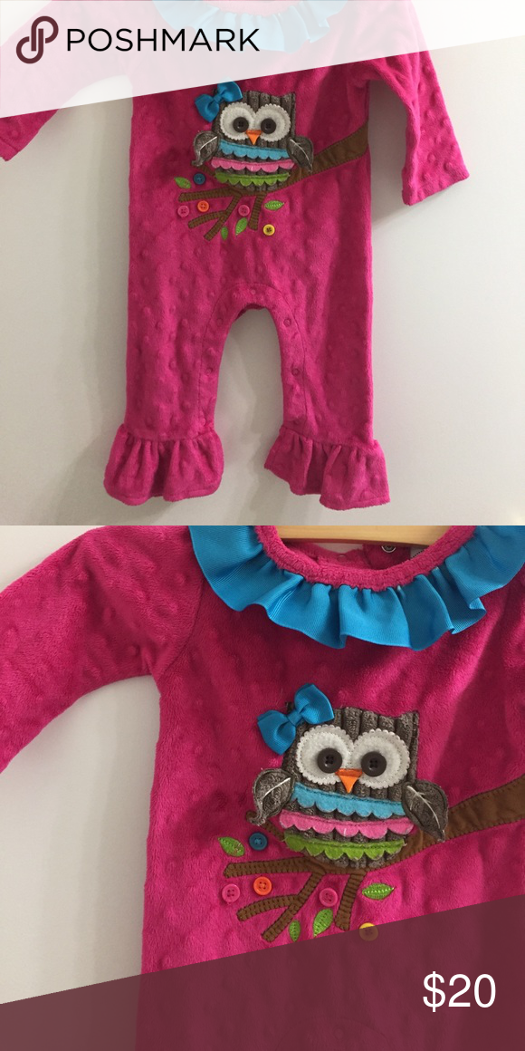 1301c6aeb90 MudPie Owl Minky Romper. 0 6M 0 6m MudPie minky owl Romper. Super warm and  perfect for winter. All offers welcome Mud Pie One Pieces