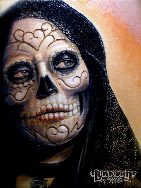 Risultato della ricerca immagini di Google per http://image.lowriderarte.com/f/25509854%2Bw750%2Bst0/0911_lrap_18_z%2Bday_of_the_dead_art%2Bwoman_skeleton_in_black.jpg