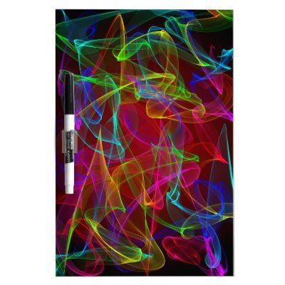 Colorful smoke swirls