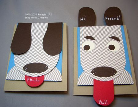 Puppy Ears Card Kids Birthday Cards Birthday Cards Diy Diy Christmas Gifts For Kids
