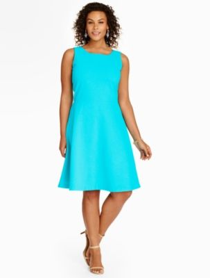 Edie Fit Amp Flare Dress Ottoman Ribbed Talbots Fit