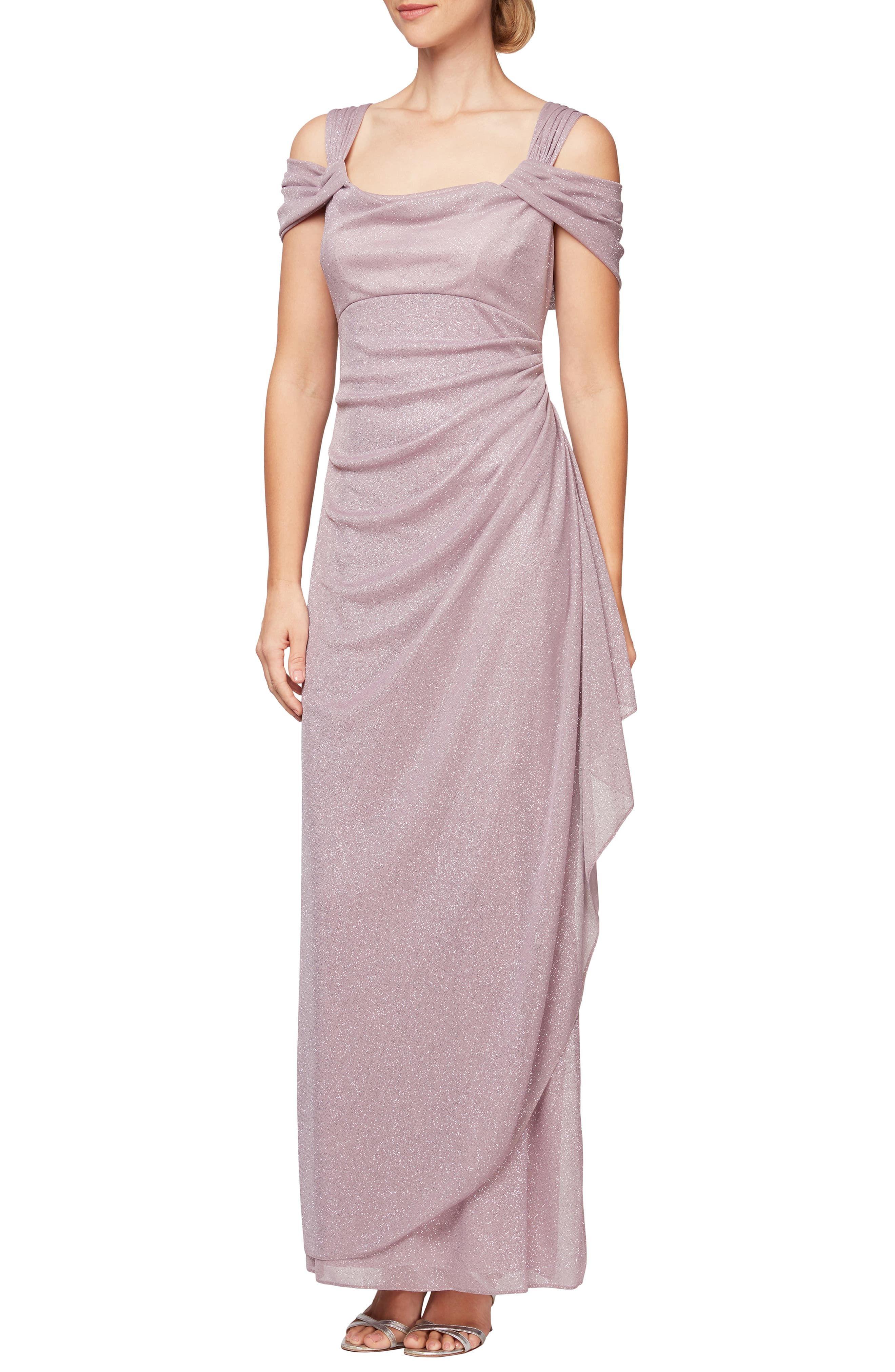 Women S Alex Evenings Cold Shoulder Ruffle Glitter Gown Size 8 Pink In 2021 Cold Shoulder Gown Women Long Sleeve Dress Long Sleeve Casual Dress [ 4048 x 2640 Pixel ]